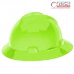 Casco V-Gard Tipo Sombrero - Verde Limon