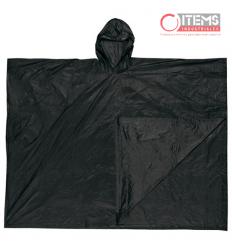 Capa Tipo Poncho PVC - Negro